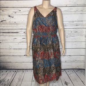 Avenue NWT 30/32 Paisley Faux Wrap Empire Dress